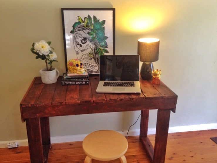 Desk Pallet Furniture Ideas -prestigepallets