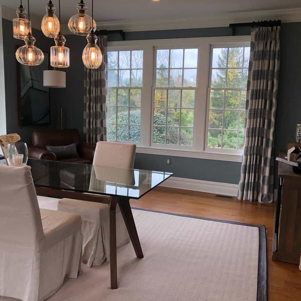 Dining Area Bay Window Ideas -curtaincathy