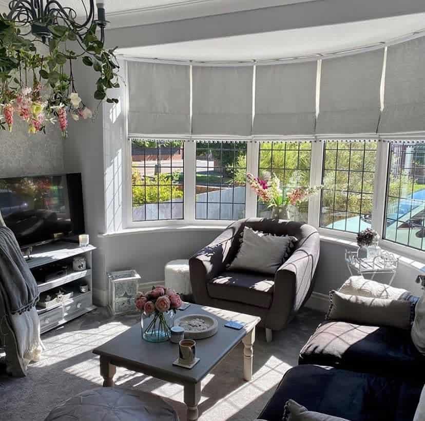 Living Area Bay Window Ideas -justsewsarah
