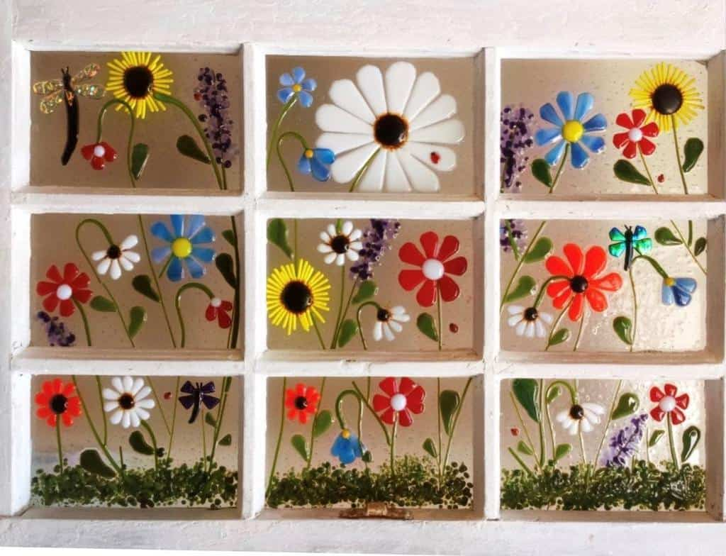 Painted Old Window Ideas -glassstringers
