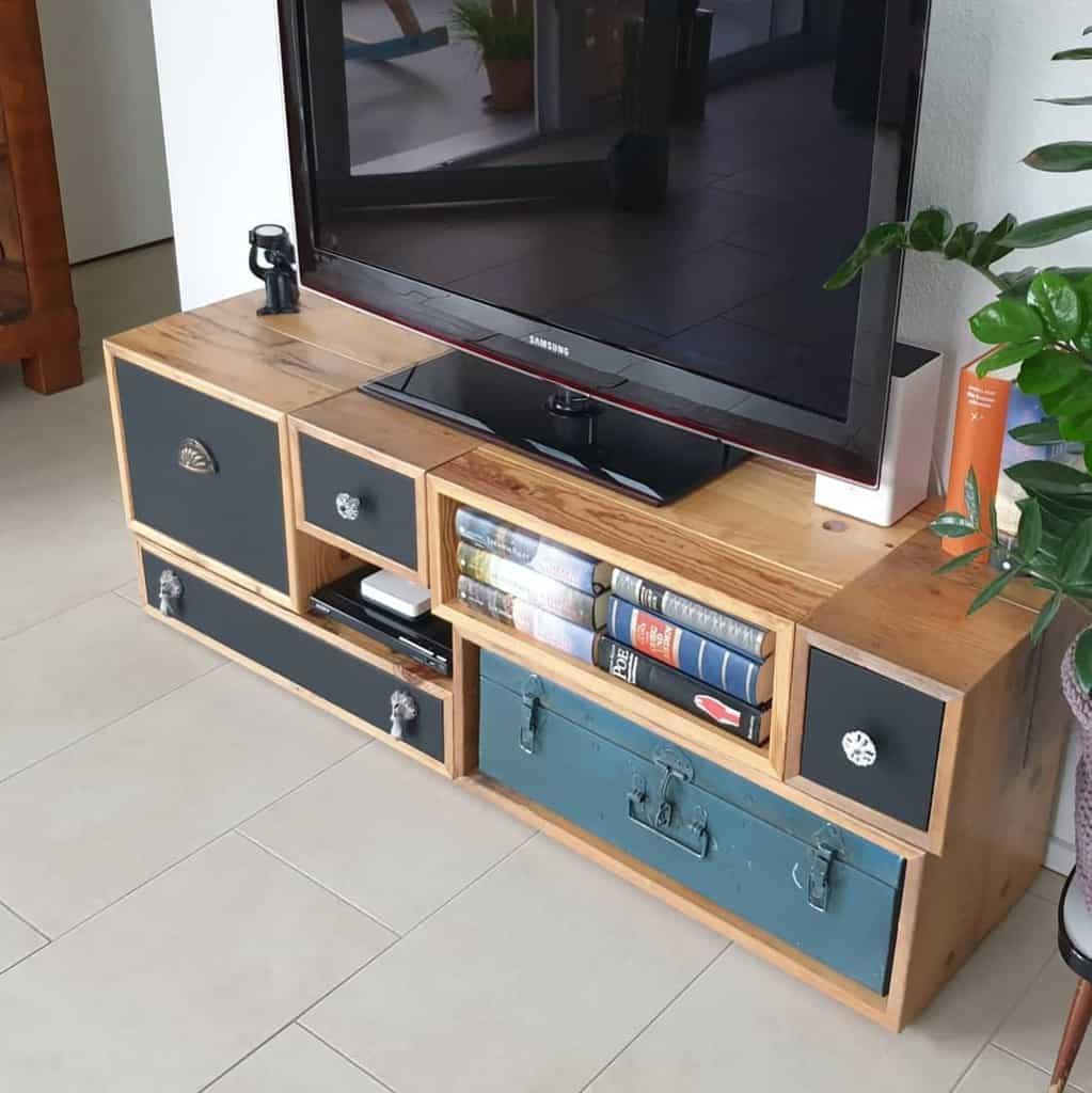 TV Stand Pallet Furniture Ideas -upcycling_moebel_deko_diy
