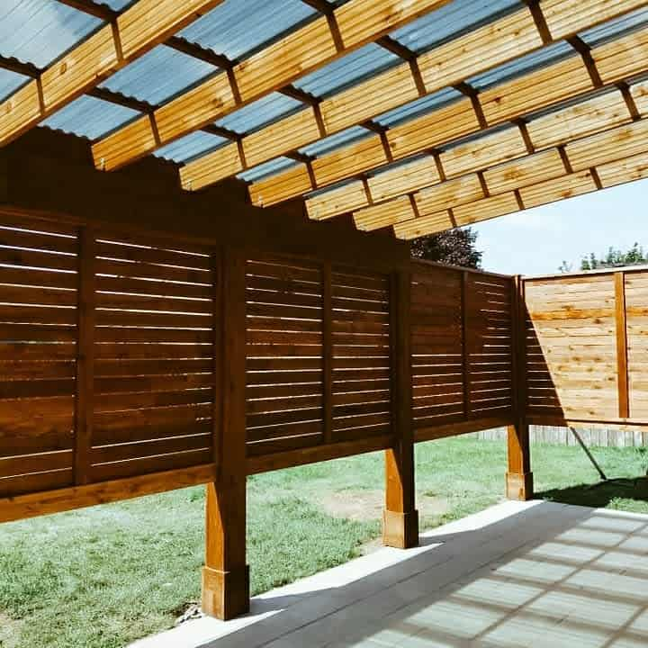 Wood Outdoor Privacy Screen Ideas -_daniellemichaud_
