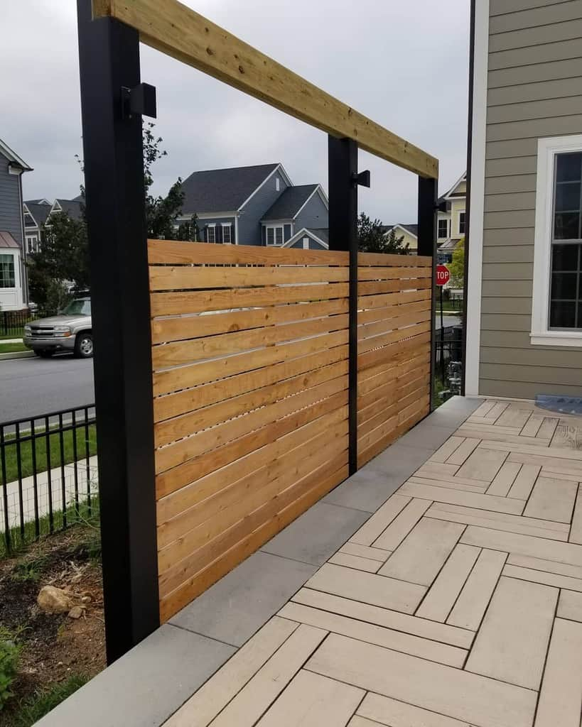 Wood Outdoor Privacy Screen Ideas -timelessconstruction5867