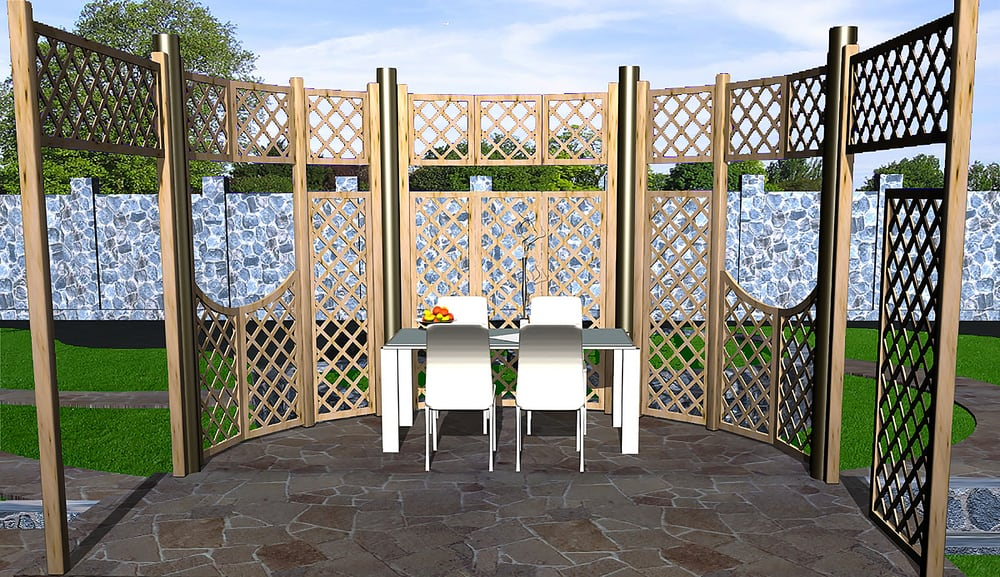 Wood Outdoor Privacy Screen Ideas