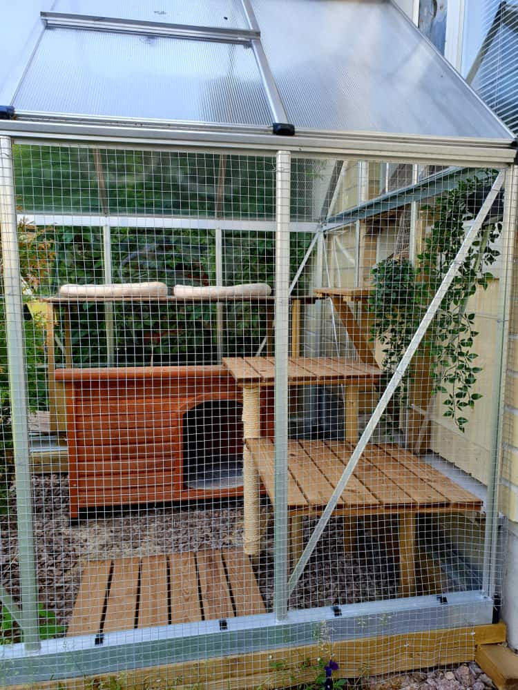 Outdoor,Cage,For,Cats,With,Different,Levels,For,Climbing,And