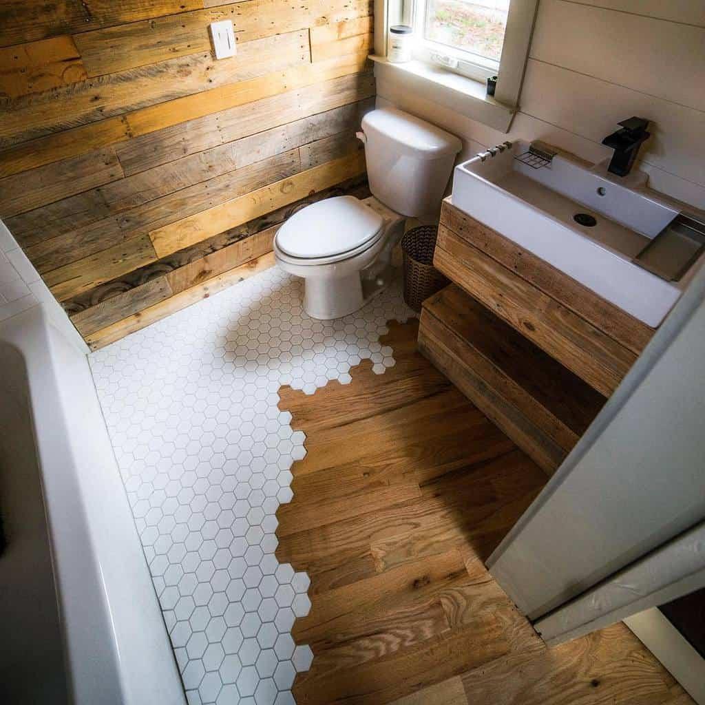 Bathroom Tiny House Ideas -woodandheartco