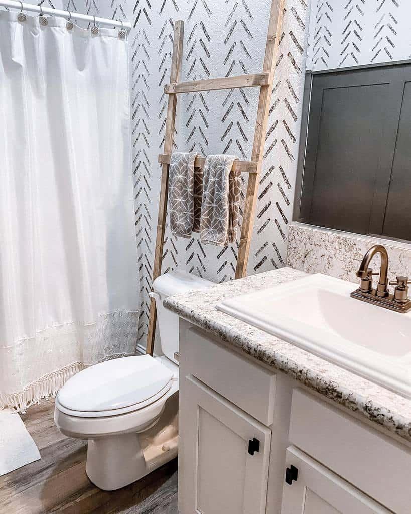 Bathroom Towel Holder Over The Toilet Storage Ideas -mymodularfarmhouse