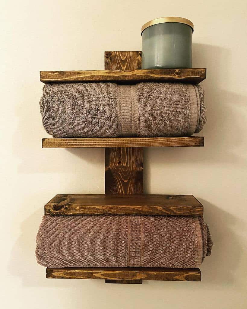 Bathroom Towel Holder Over The Toilet Storage Ideas -wamwoodworks