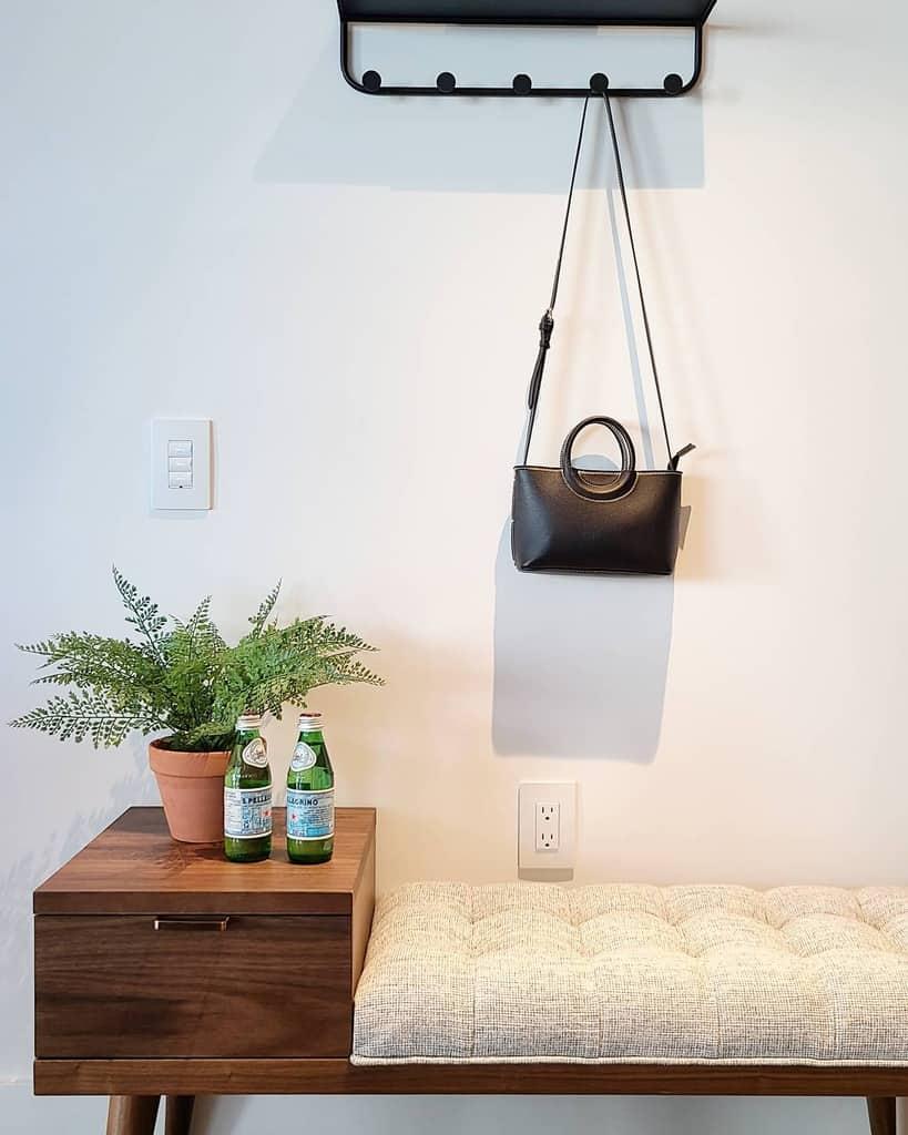 Bench Small Entryway Ideas -miixinteriors