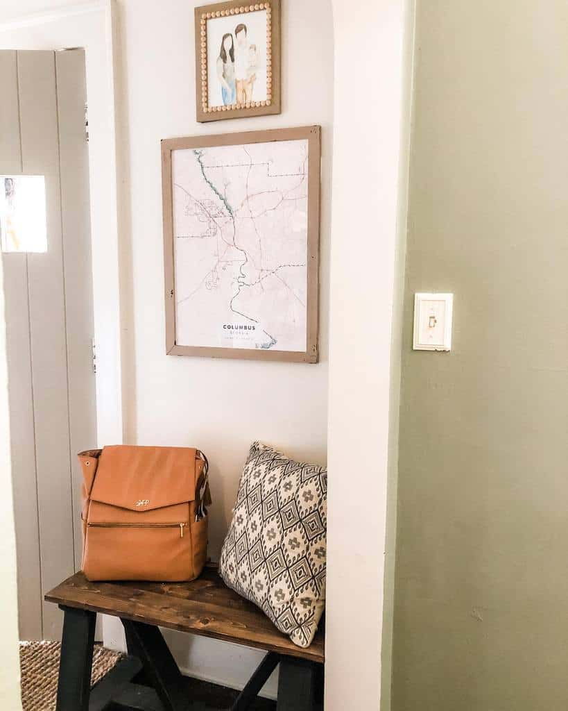 Bench Small Entryway Ideas -thecottonfieldcottage
