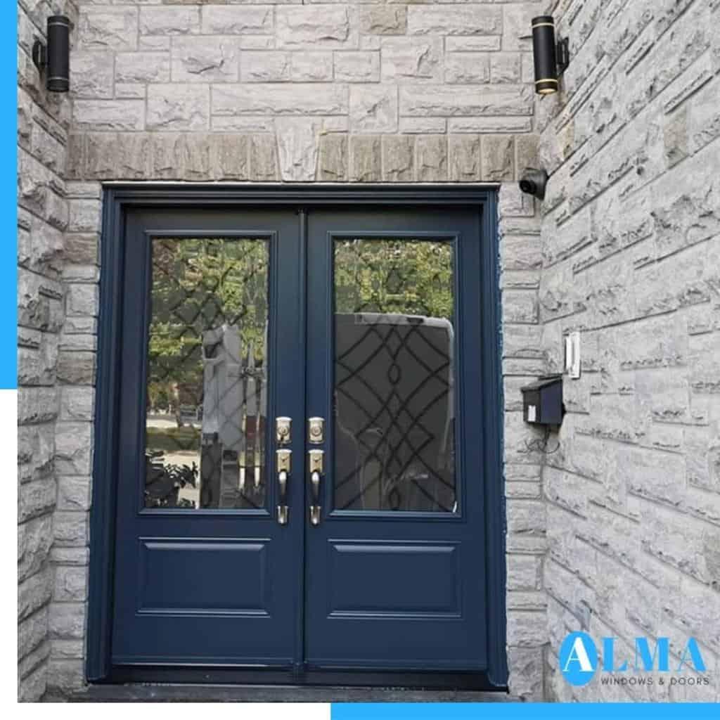 Blue Front Door Ideas -almawindows