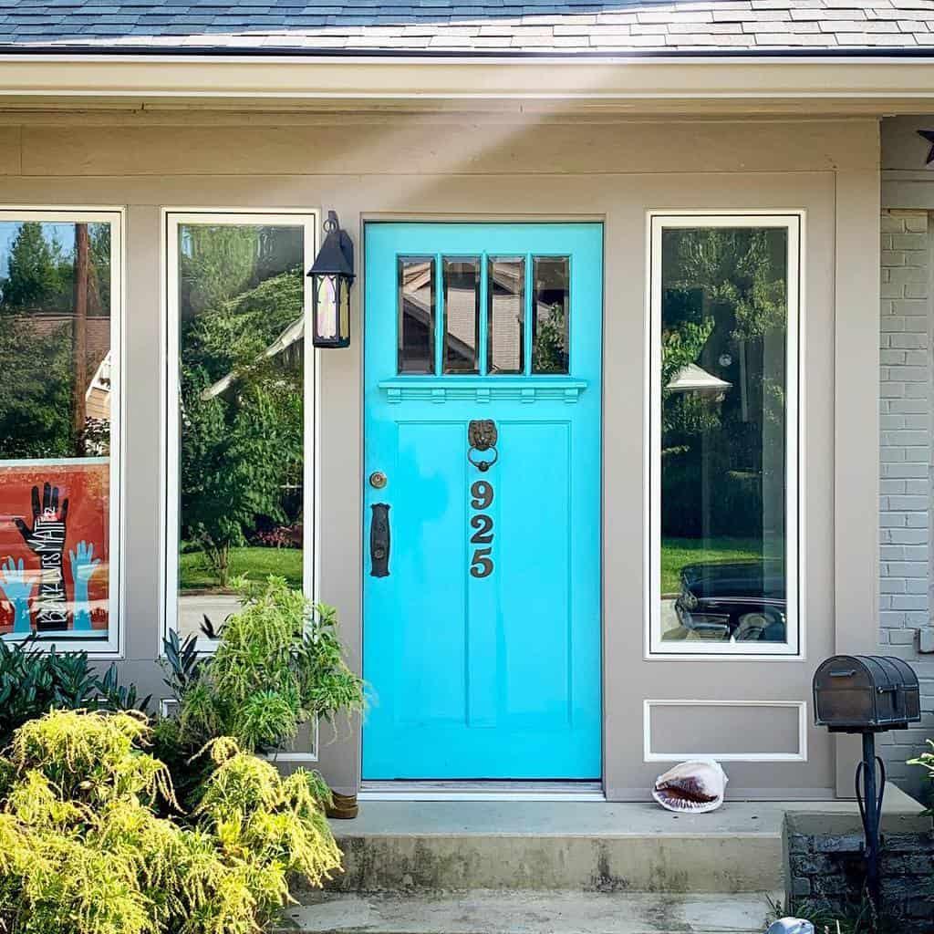 Blue Front Door Ideas -doorsofatlanta