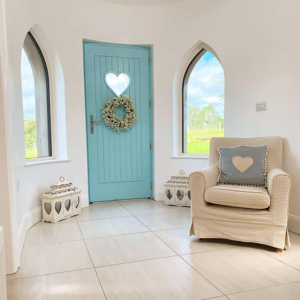 Blue Front Door Ideas -peggysuescountryhome