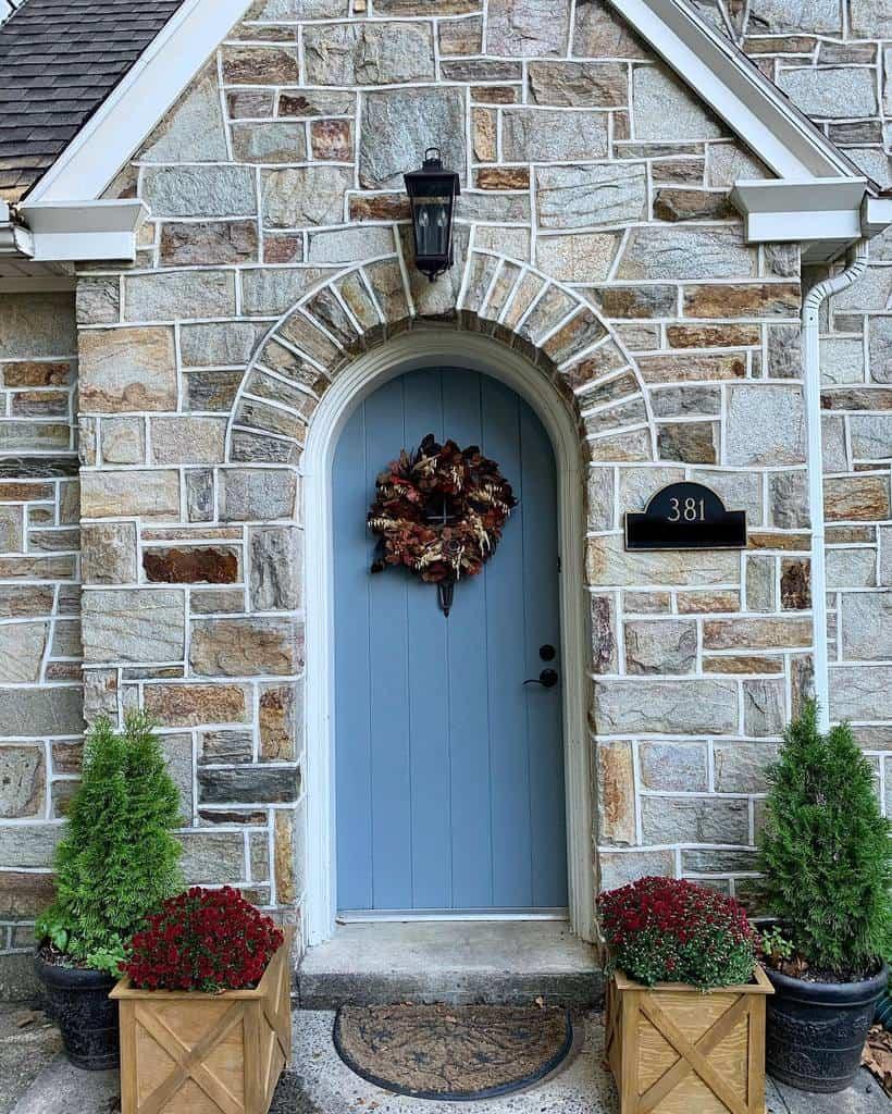 Blue Front Door Ideas -thislittlestonecottage