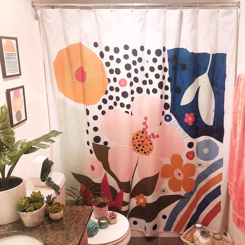 Boho Shower Curtain Ideas -emmak_homestyling