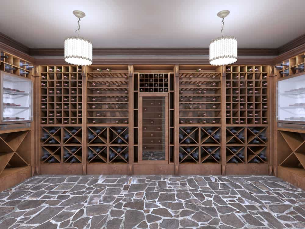 Wine,Cellar,In,The,Basement,Of,The,House,In,A