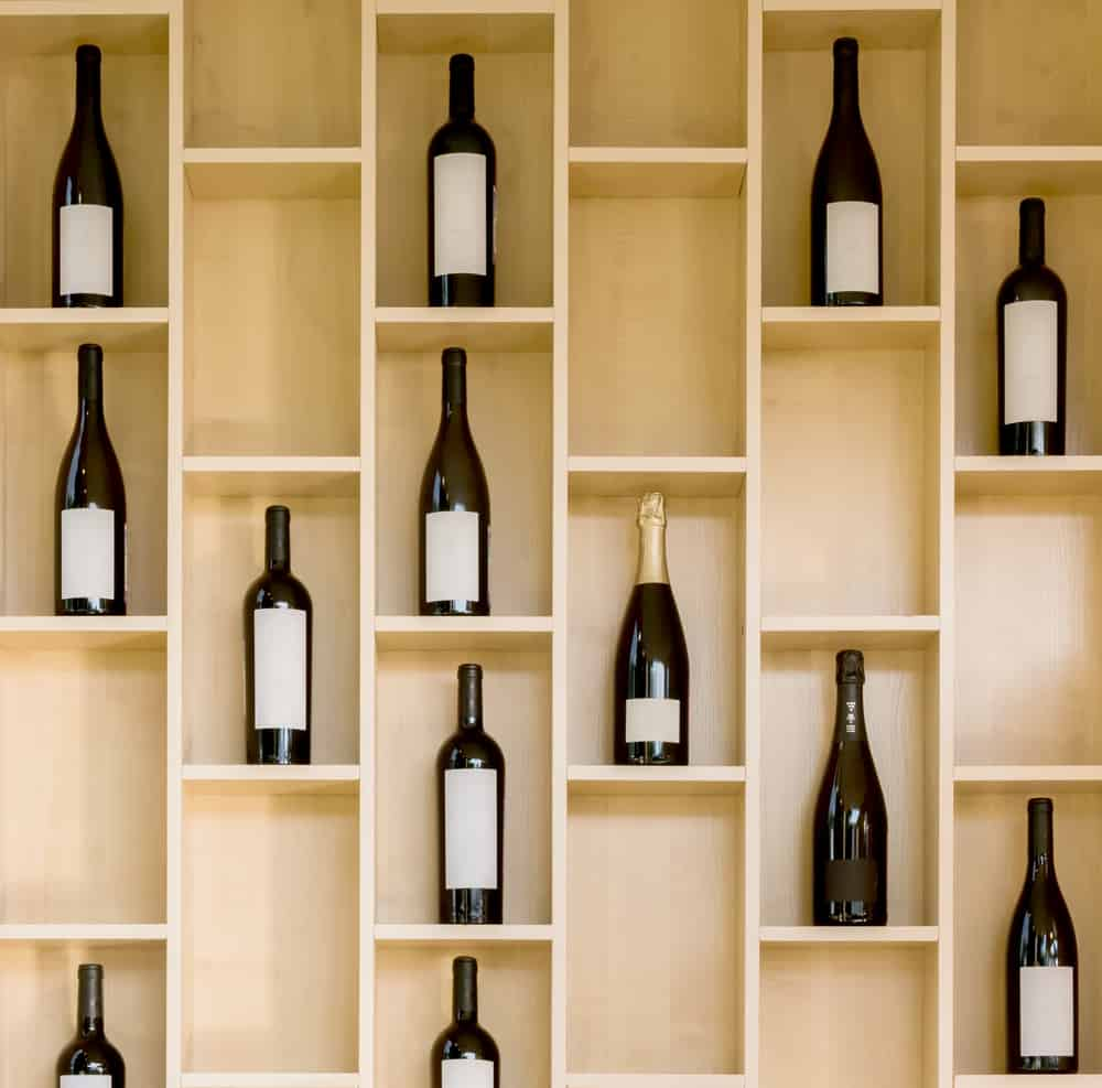 A,Variety,Of,Bottles,Of,Wine,And,Champagne,In,A