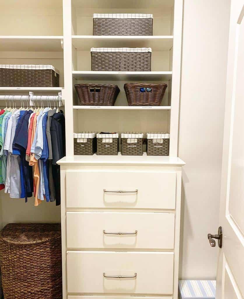 Children Clothes Storage Ideas -lessisliving