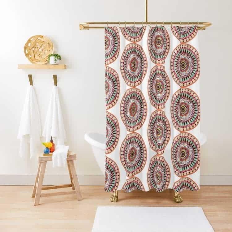 Circle Shower Curtain Ideas -nma_artbrand