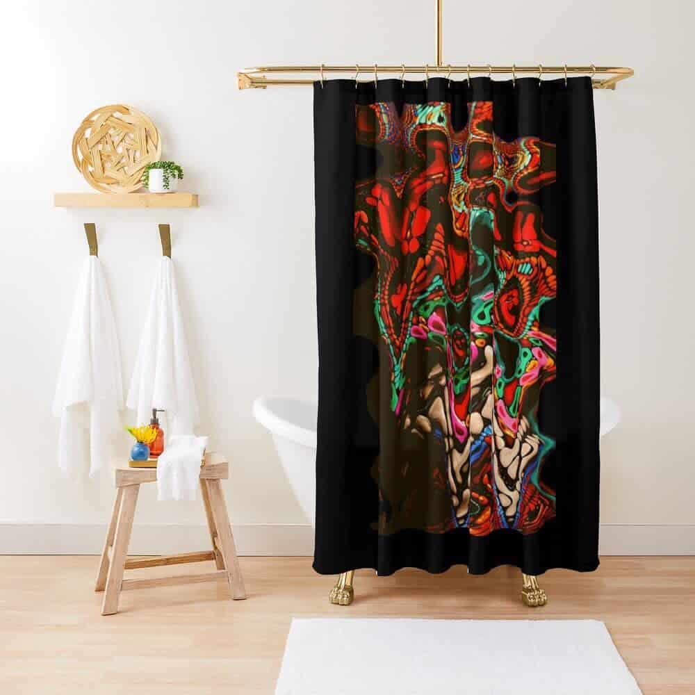 Circle Shower Curtain Ideas -sg_my_designs