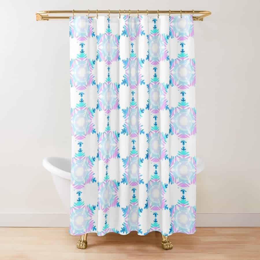 Circle Shower Curtain Ideas -thehappylifegraphics