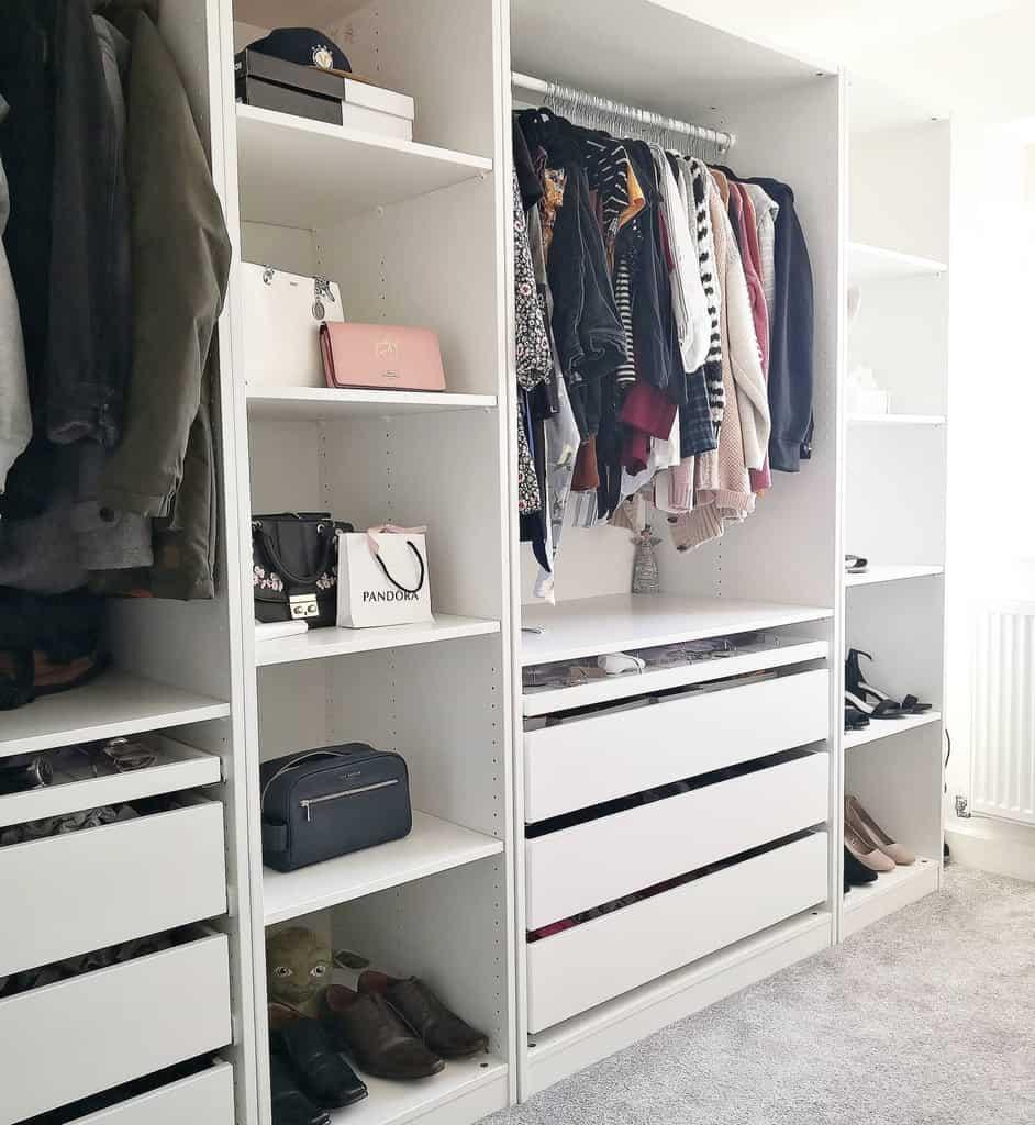 Closet Clothes Storage Ideas -homebygeorgiaeloise