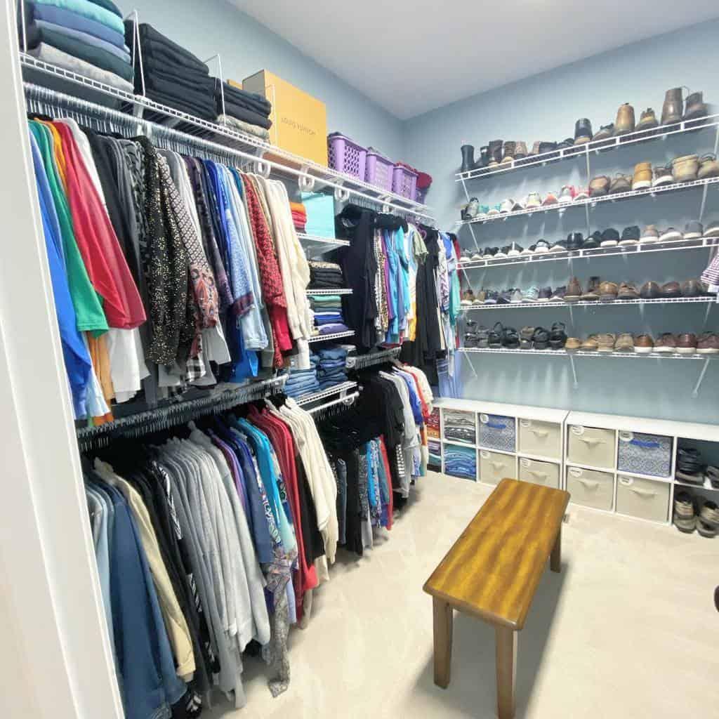 Closet Clothes Storage Ideas -organizedbymorgan