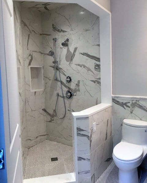 Corner Doorless Walk In Shower Ideas 2