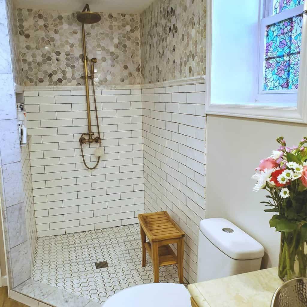 Corner Doorless Walk In Shower Ideas -maddimaysmiles