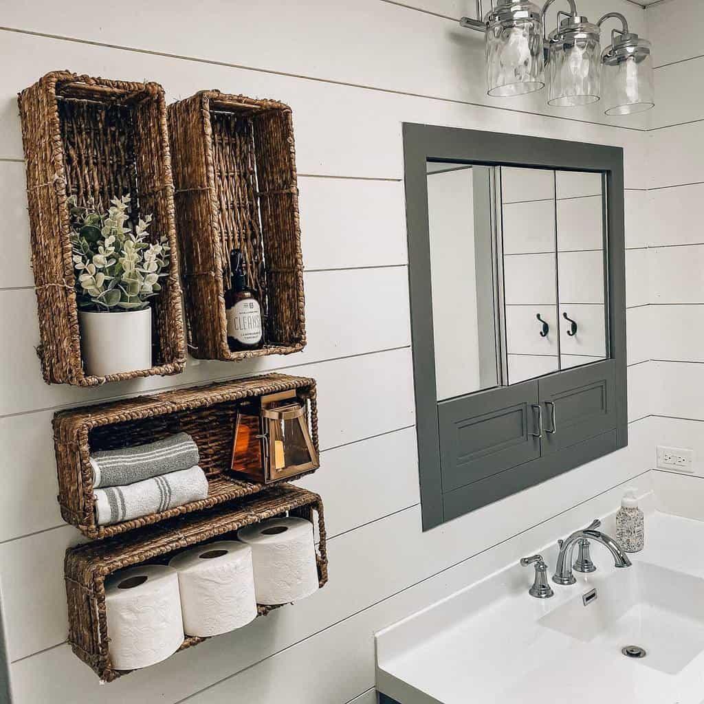 DIY Over The Toilet Storage Ideas -homewithalia