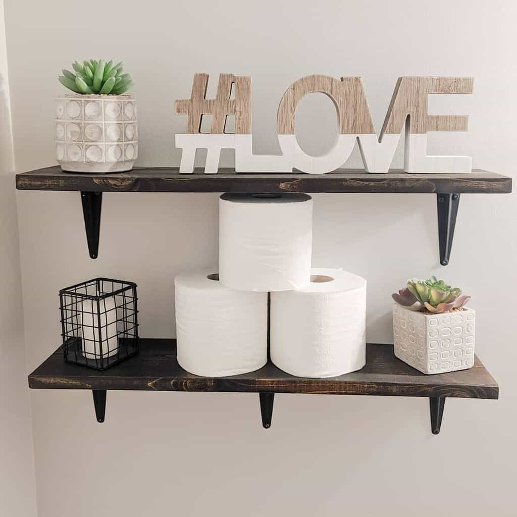 DIY Over The Toilet Storage Ideas -making.my.happy.place