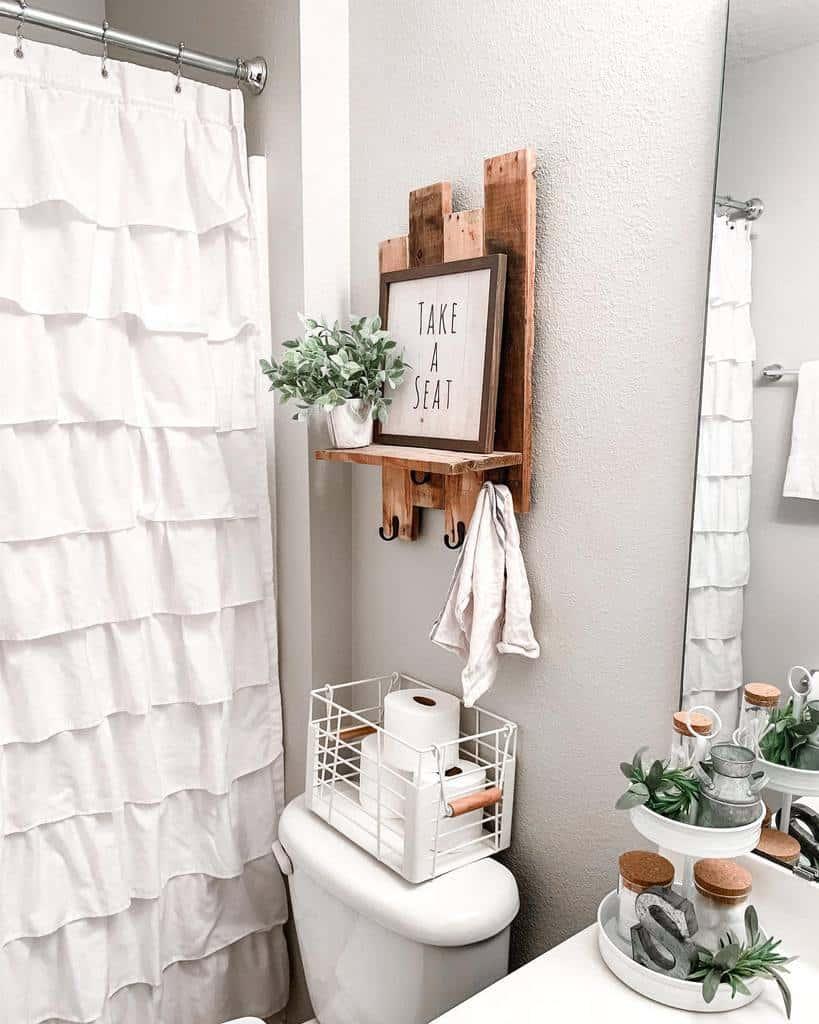 DIY Over The Toilet Storage Ideas -oldcityfarmhouse