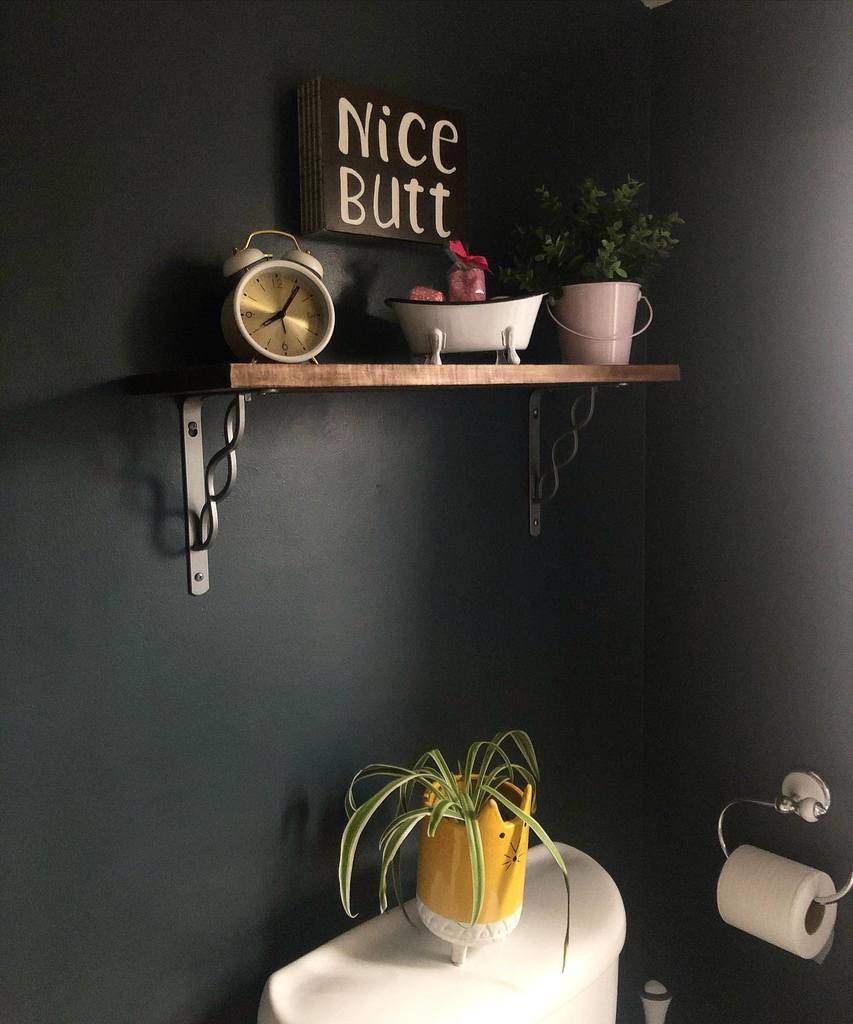 DIY Over The Toilet Storage Ideas -ourlittlewhitecottage