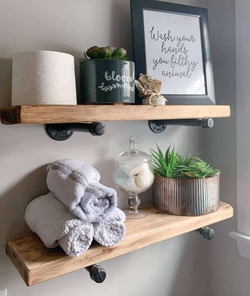 DIY Over The Toilet Storage Ideas -rockycanyonrustic