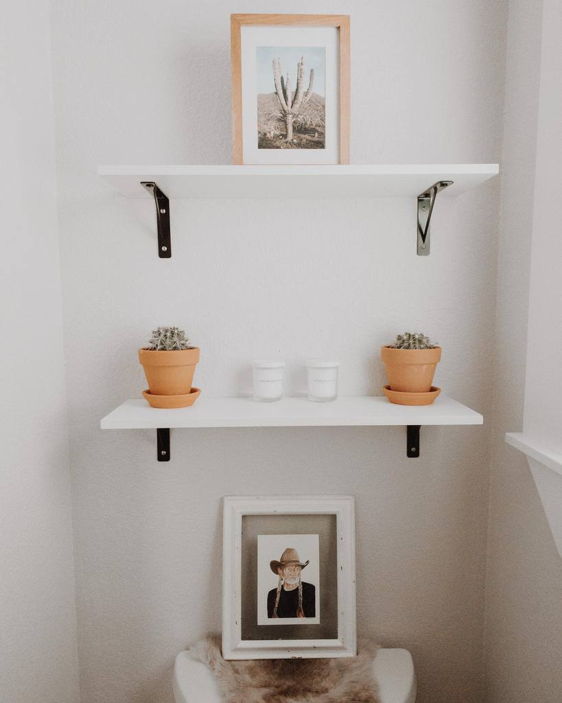 DIY Over The Toilet Storage Ideas -surfshackdesigns
