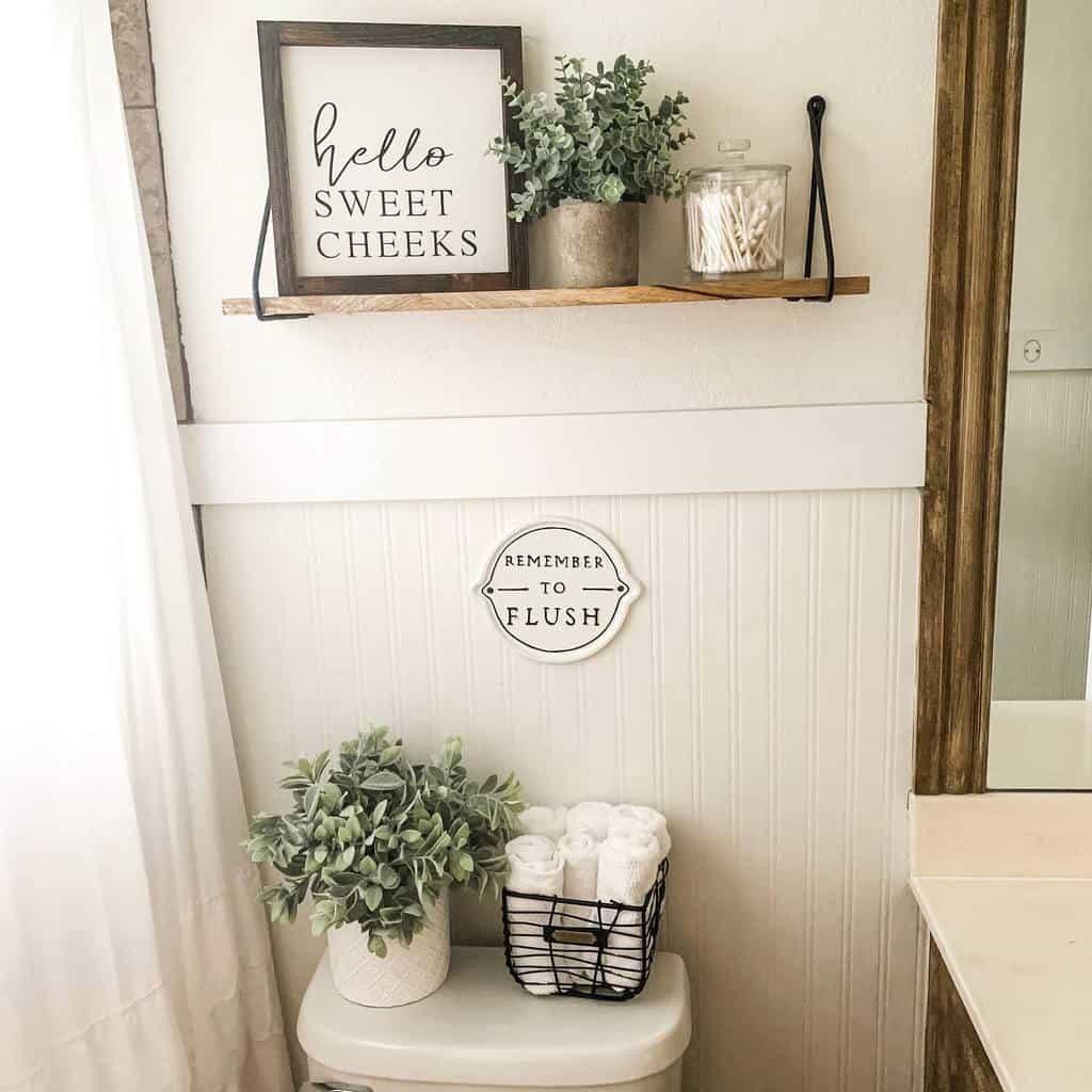 DIY Over The Toilet Storage Ideas -thecoreyhomestead