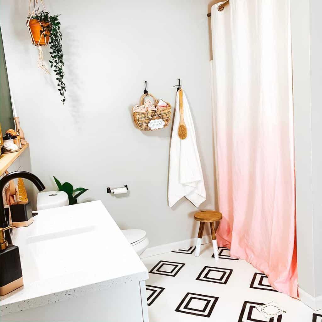 DIY Shower Curtain Ideas -dwell.here