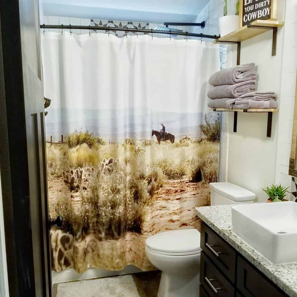 DIY Shower Curtain Ideas -ourrusticlife