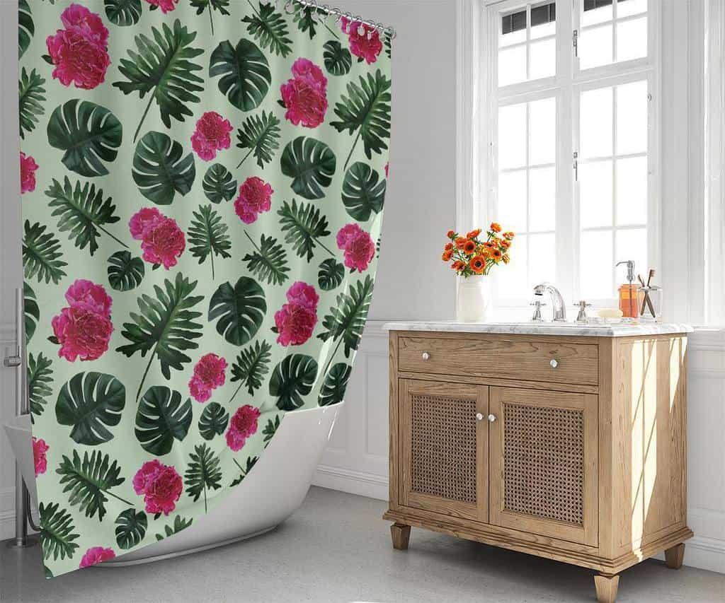 Fabric Shower Curtain Ideas -lemonlovegood