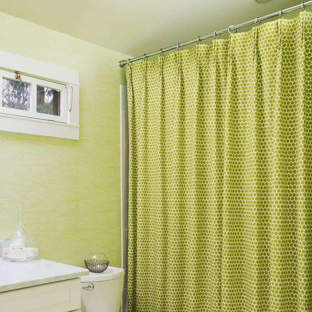 Fabric Shower Curtain Ideas -michelegratchinteriors
