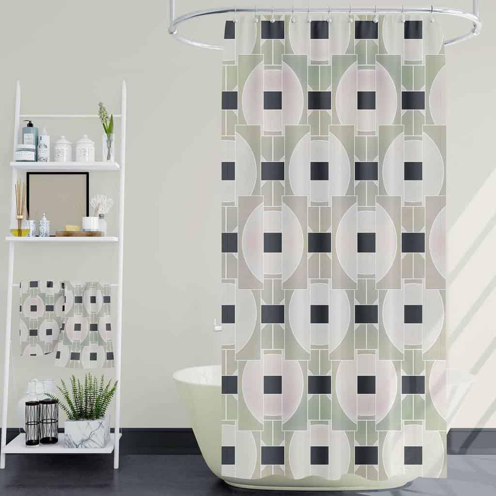 Fabric Shower Curtain Ideas -vizual_iq