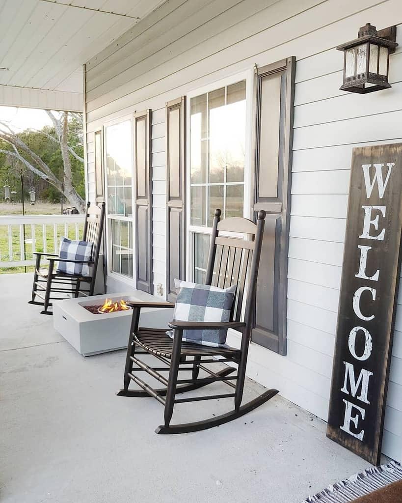 Farmhouse Front Porch Decorating Ideas -fallons.homestead