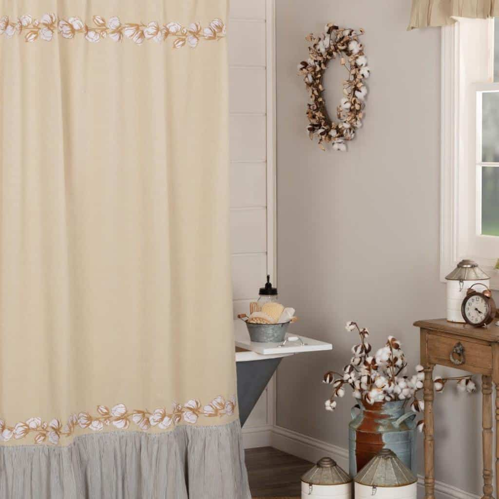 Farmhouse Shower Curtain Ideas -country_home_accents