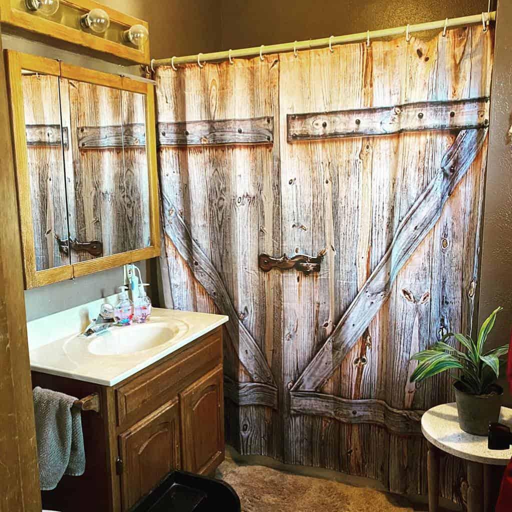 Farmhouse Shower Curtain Ideas -savannahlee.creativity