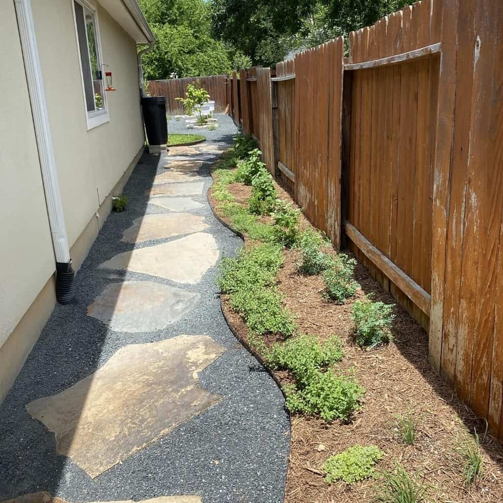 Fence Side Yard Ideas -uprootedgardens