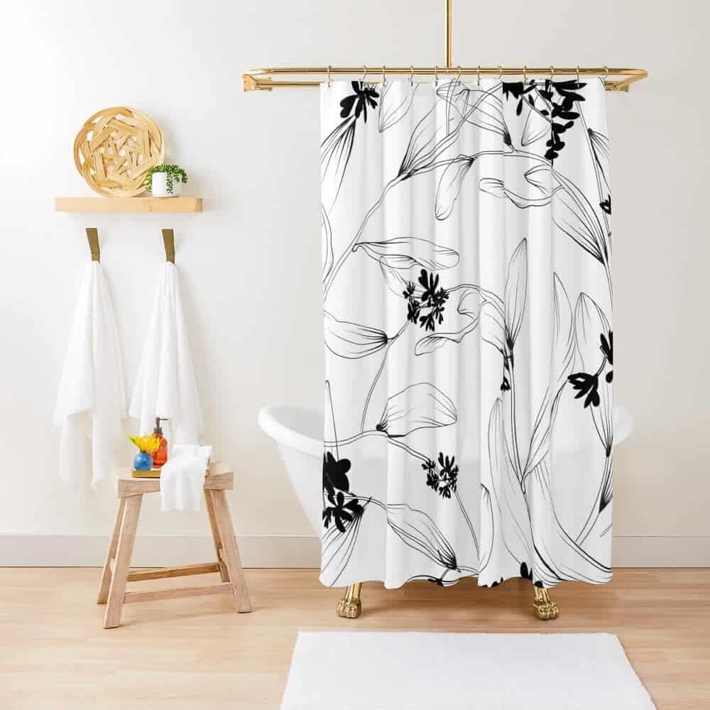 Floral Shower Curtain Ideas -beargygoods