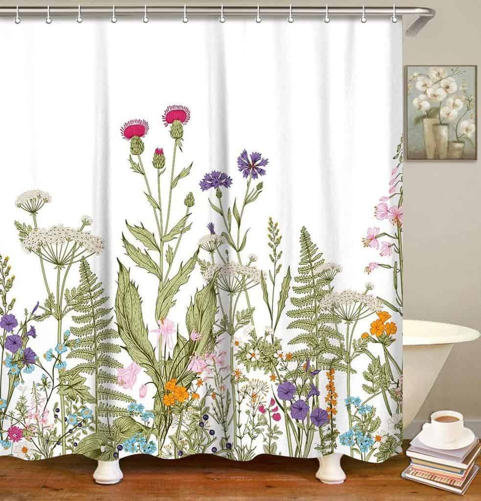 Floral Shower Curtain Ideas -showercurtainsgalore