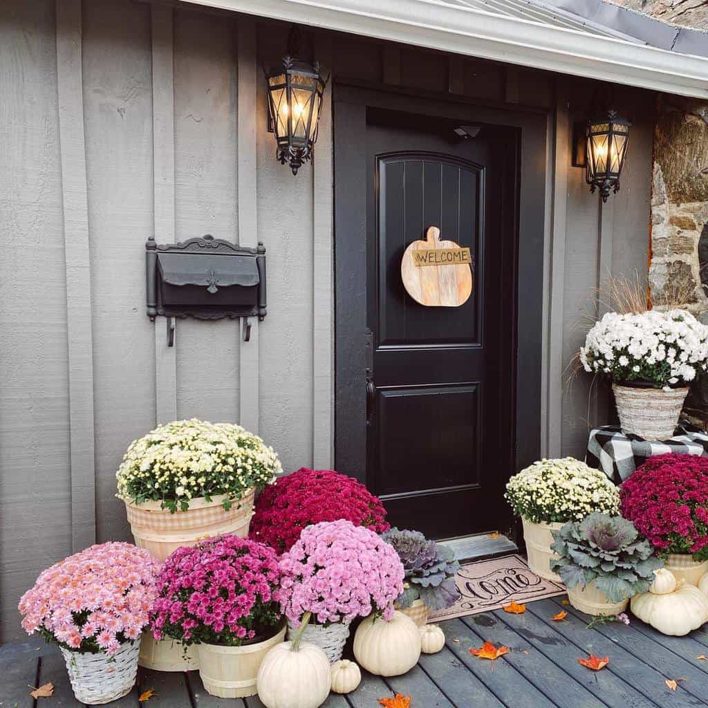 Flower Front Porch Decorating Ideas -thefrontporchedit