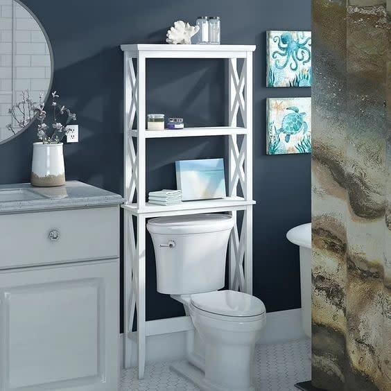 Freestanding Over The Toilet Storage Ideas 2 -riverridgehome