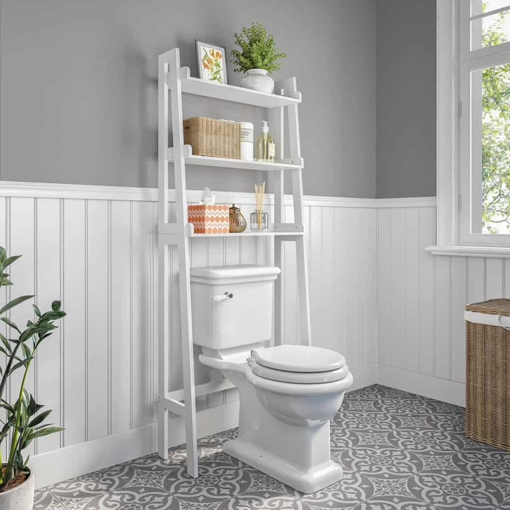 Freestanding Over The Toilet Storage Ideas 3 -riverridgehome